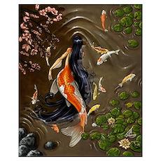 Koi Mermaid Poster