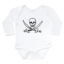 Pirate Skull Long Sleeve Infant Bodysuit