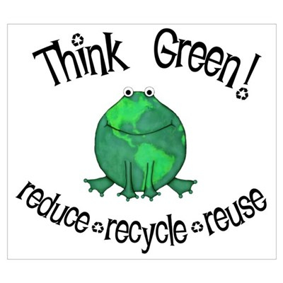 Earth Day Frog Poster