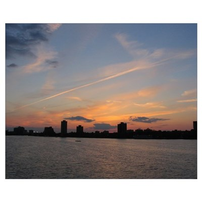"16""x20"" Boston Sunset Poster"