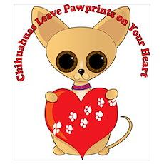 Chihuahua Valentine Poster