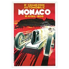 Vintage 1930 Monaco Auto Race Canvas Art
