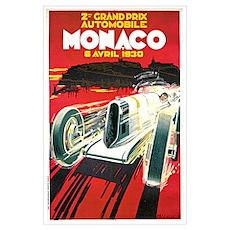 Vintage 1930 Monaco Auto Race Poster