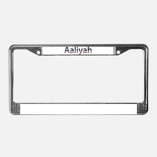 Aaliyah Stars and Stripes License Plate Frame