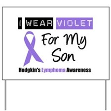 I Wear Violet For My Son Yard Sign