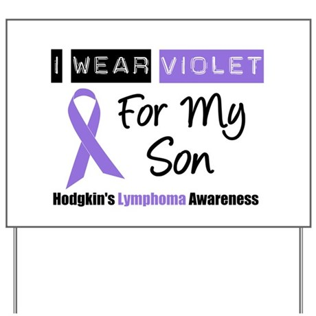 I Wear Violet For My Son Yard Sign