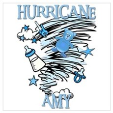 HURRICANE AMY Framed Print