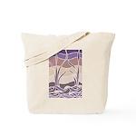 Batik Sunset Marsh Tote Bag