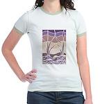 Batik Sunset Marsh Jr. Ringer T-Shirt