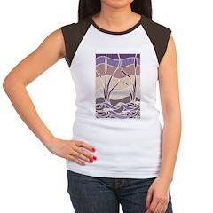 Batik Sunset Marsh Women's Cap Sleeve T-Shirt