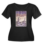 Batik Sunset Marsh Women's Plus Size Scoop Neck Da