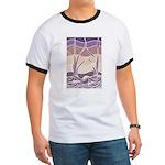Batik Sunset Marsh Ringer T