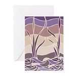 Batik Sunset Marsh Greeting Cards (Pk of 10)