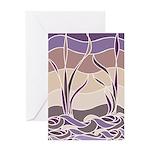 Batik Sunset Marsh Greeting Card