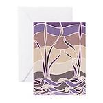 Batik Sunset Marsh Greeting Cards (Pk of 20)