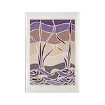 Batik Sunset Marsh Rectangle Magnet (10 pack)