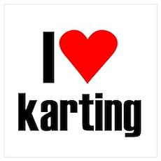 I love karting Poster