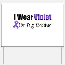 Violet Ribbon Brother Yard Sign