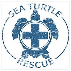 Sea Turtle Rescue Poster