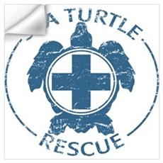 Sea Turtle Rescue Wall Decal