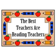 The Best Teachers Are Reading Teachers Small Poste Poster