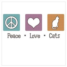 Peace Love Cats Canvas Art