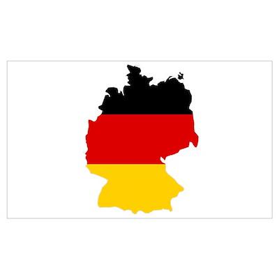 German Flag (shape) Poster