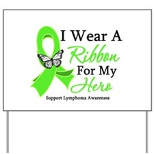 Lymphoma Ribbon Hero Yard Sign
