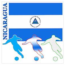 Nicaragua Soccer Poster