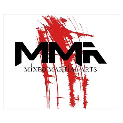 MMA Blood Splatter 06 Canvas Art