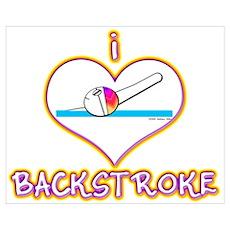 I Love Backstroke! Poster