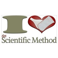 I Heart the Scientific Method Framed Print