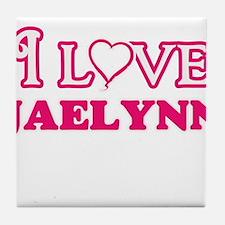I Love Jaelynn Tile Coaster