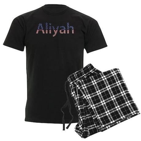 Aliyah Stars and Stripes Men's Dark Pajamas