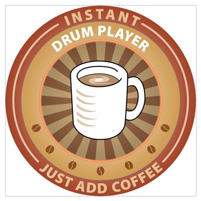 Instant Drum Player Framed Print