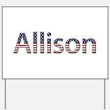 Allison Stars and Stripes Yard Sign