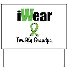 I Wear Lime Grandpa Yard Sign