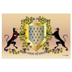 Greyhound Coat of Arms C Poster