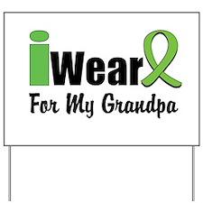 Lime Green Grandpa Yard Sign