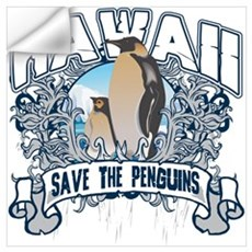 Save the Penguins Hawaii Wall Decal
