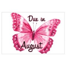 Due August Sparkle Butterfly Poster