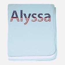Alyssa Stars and Stripes baby blanket