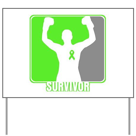 Lymphoma Male Survivor Yard Sign