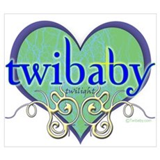 Twibaby with Hearts Poster