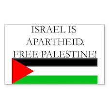 Israel is Apartheid Sticker (Rect)