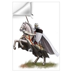 Templar on rearing horse Wall Decal