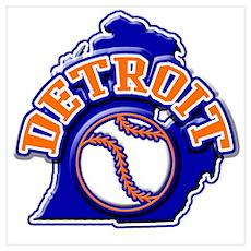 Detroit Baseball Poster