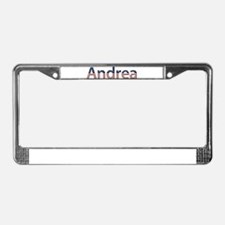 Andrea Stars and Stripes License Plate Frame