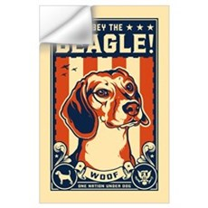 Obey the Beagle! USA Wall Decal