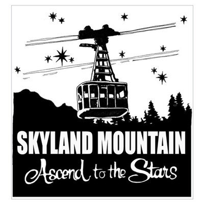 Skyland Mountain Souvenir Framed Print